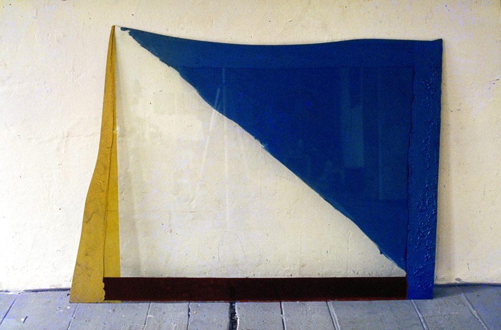 GFF-GBBW. 1980, Farbe auf Glas, 113 x 153 x 0,8 cm