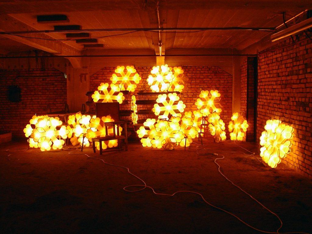 Heimleuchten Speyer. 2006, elektrisches Licht, Filzfabrik Melchior Hess, Speyer
