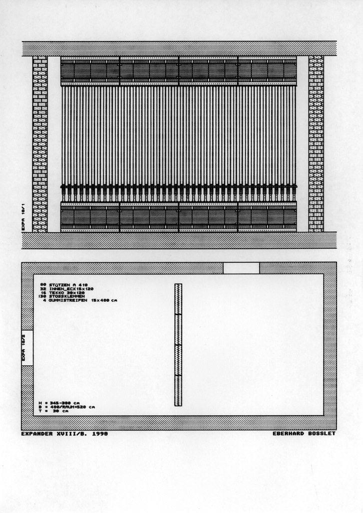 Projektzeichnung Expander XVIII/B 1990.