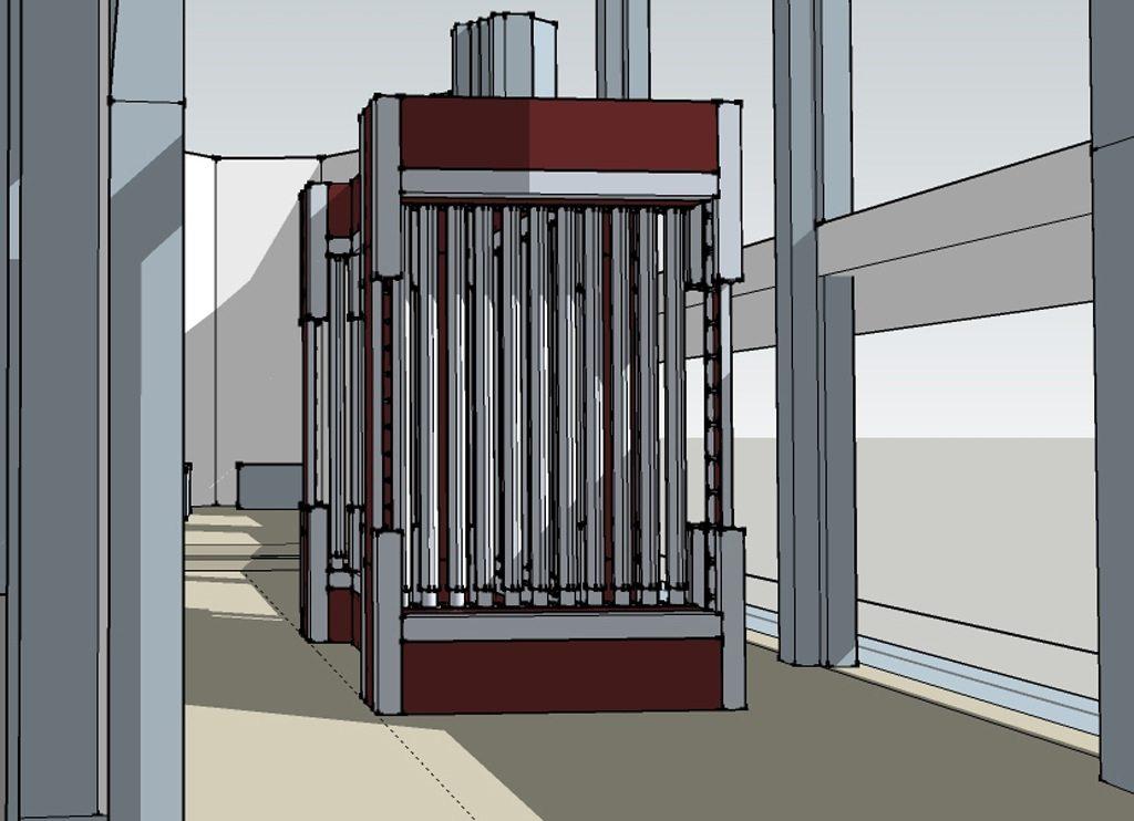 Projektzeichnung, Werk IV SK Saar, 2012.
