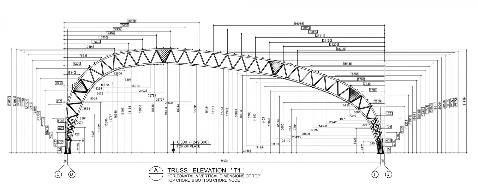 Jaisalmer Airport, 2013. Truss Elevation Architect: Studio VanRo Engineer: Mahendra Raj