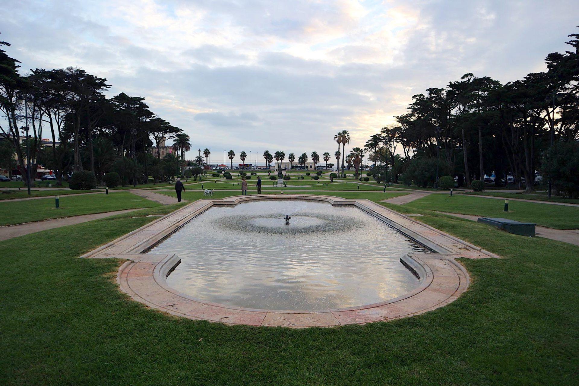 Jardim do Estoril. Die Gartenanlage vor dem Casino.