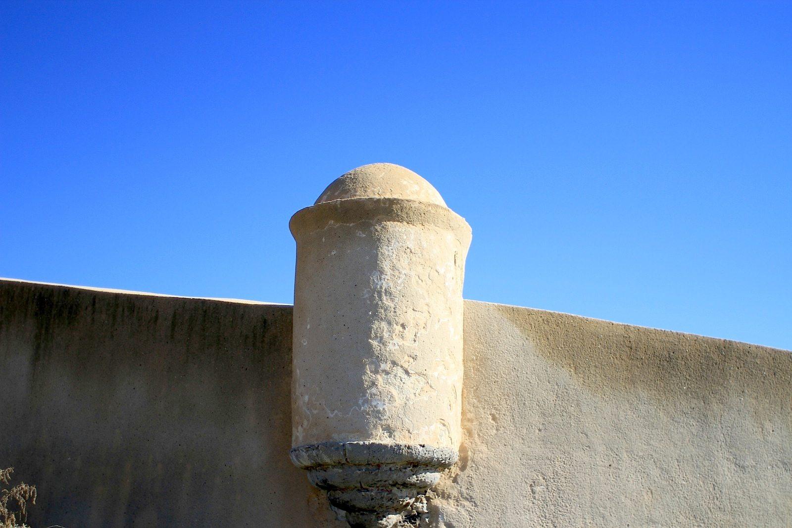 Festung S. Jorge Oitavos. An der Küste bis zur Tejo-Mündung bei Lissabon gibt es mehrere dieser Wehranlagen.
