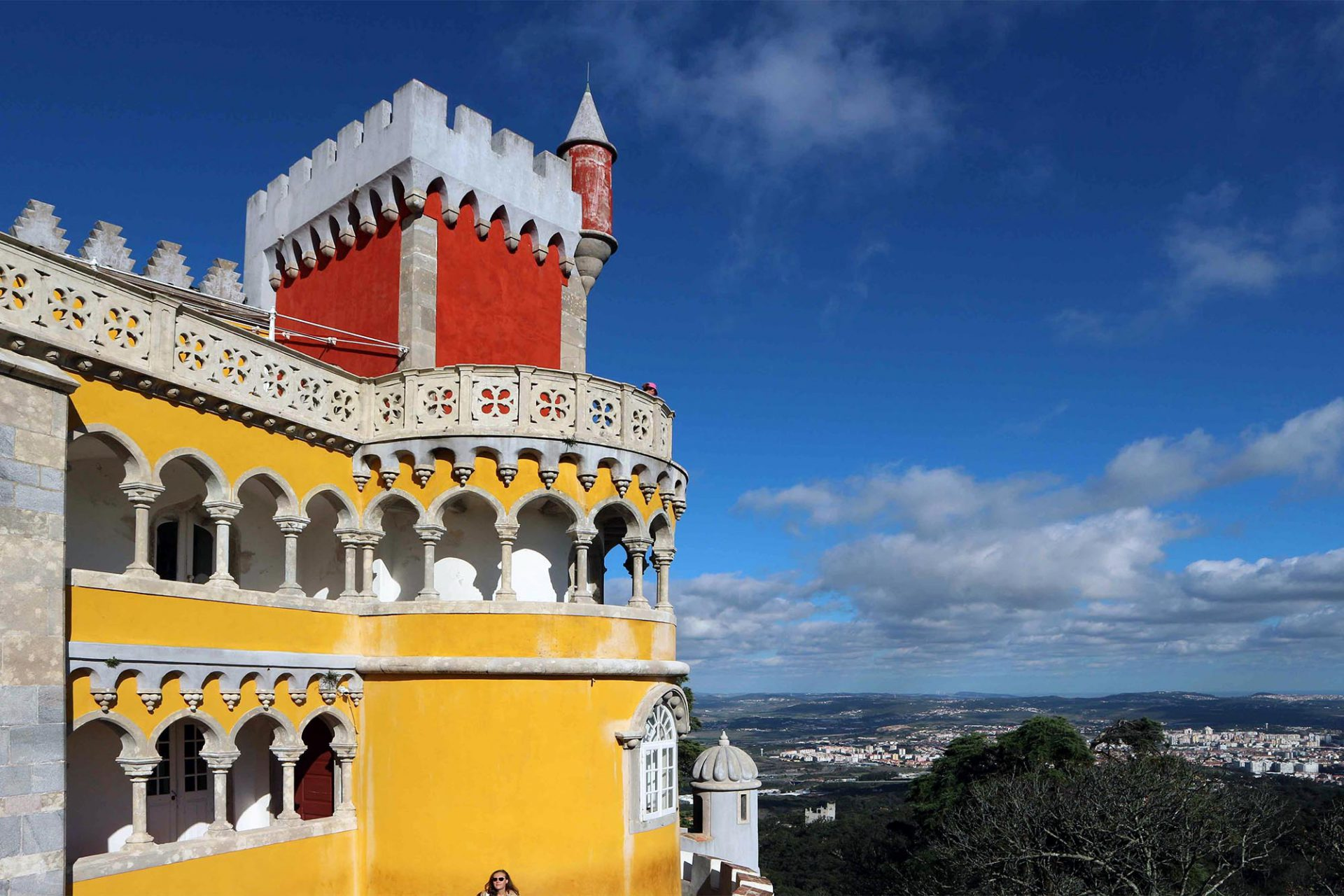 Palácio Nacional da Pena. Der Blick fällt weit ins Land.