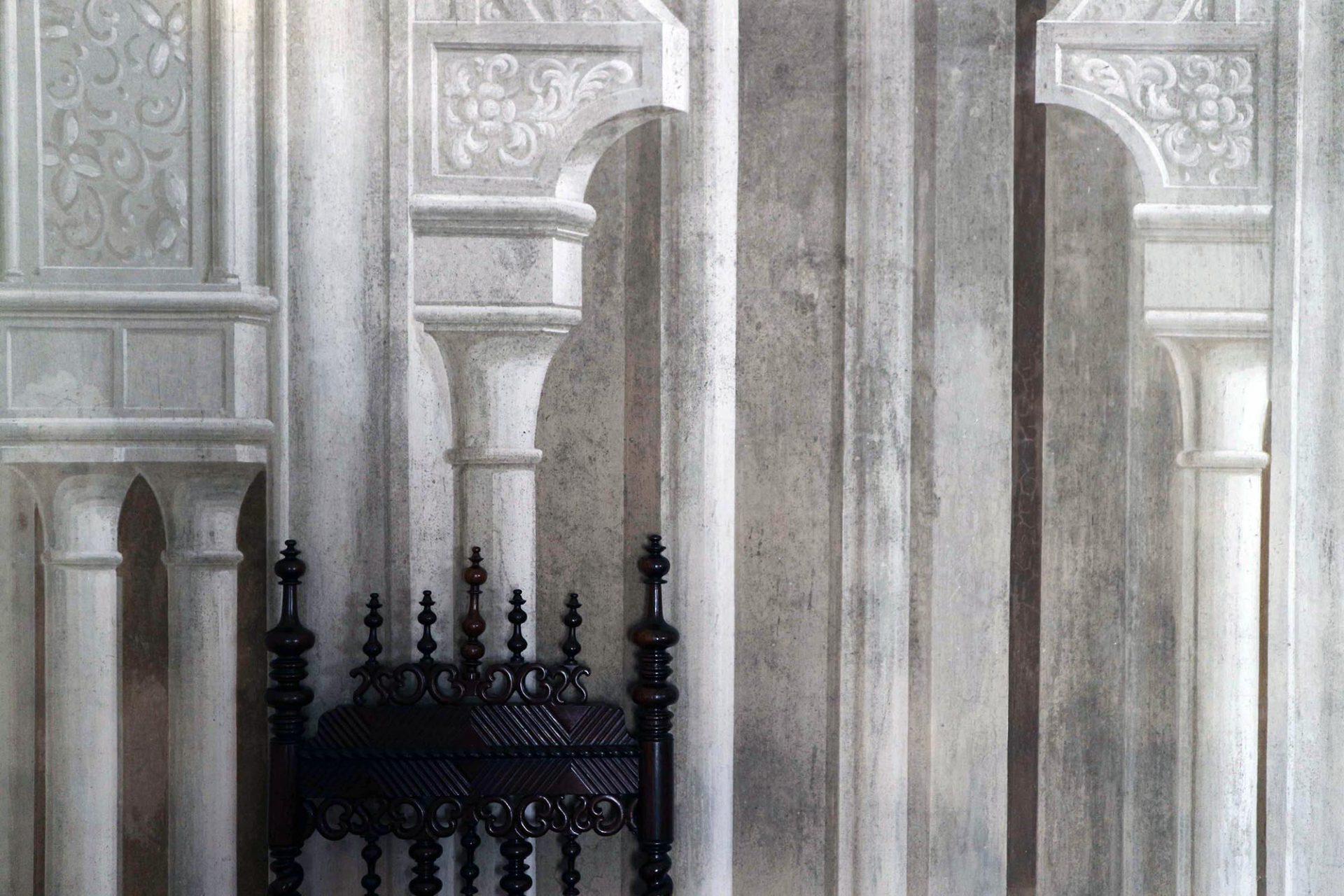 Palácio Nacional da Pena.  Aufwendiger Wandschmuck im Inneren.