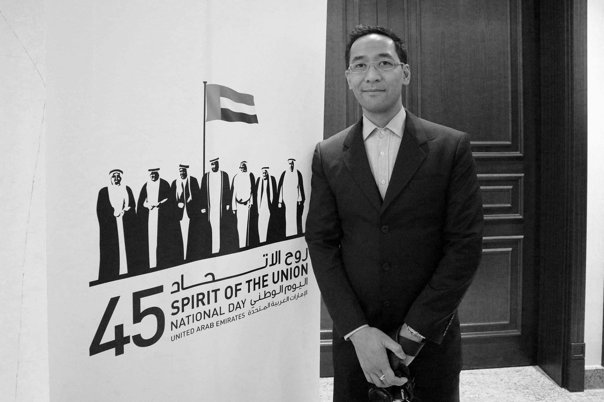 Jan Dimog. Journalist und Autor des Architekturführers Vereinigte Arabische Emirate.