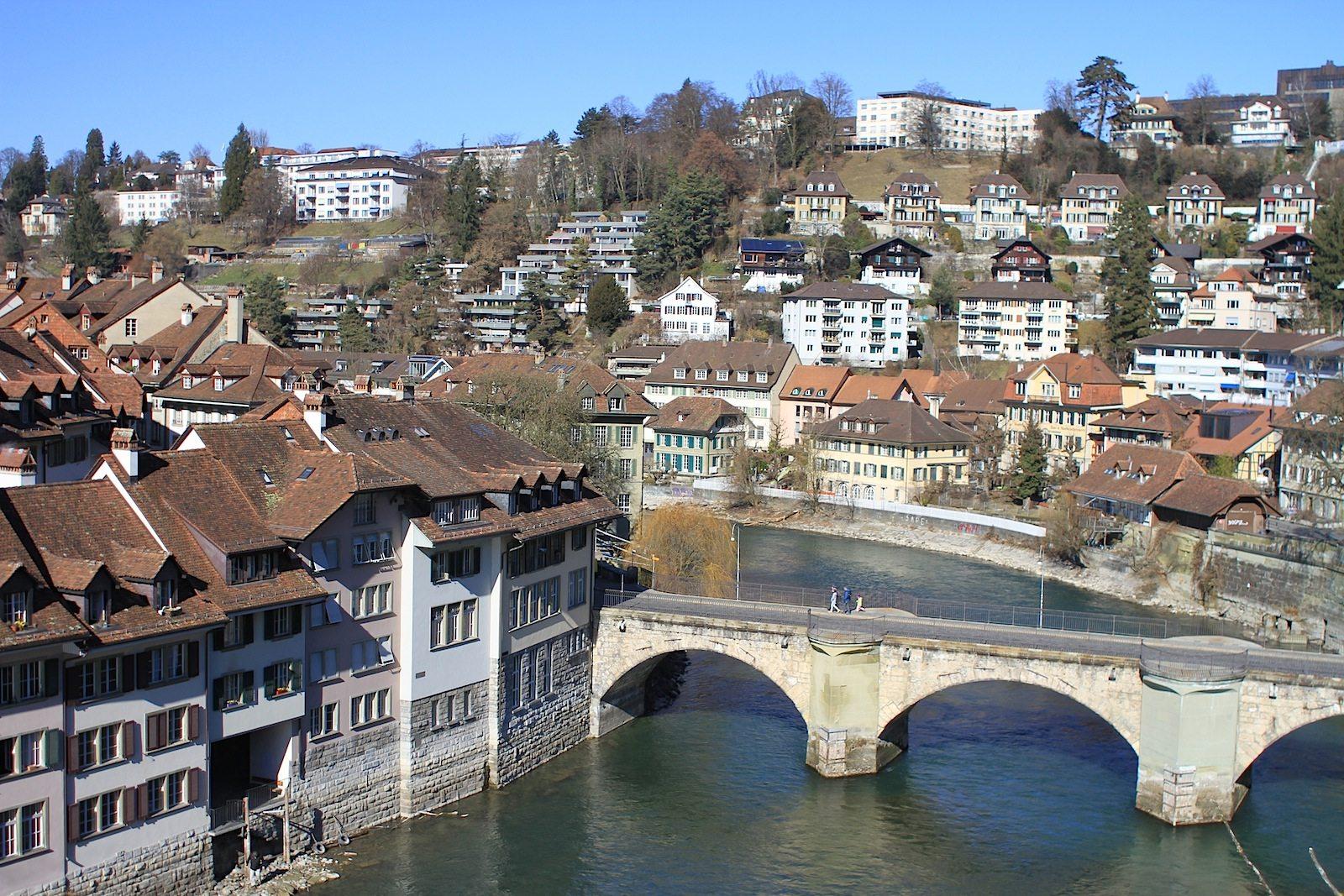 Quartier. Am Fuße der Altstadt bei der Untertorbrücke entstand das Berner Mattequartier.
