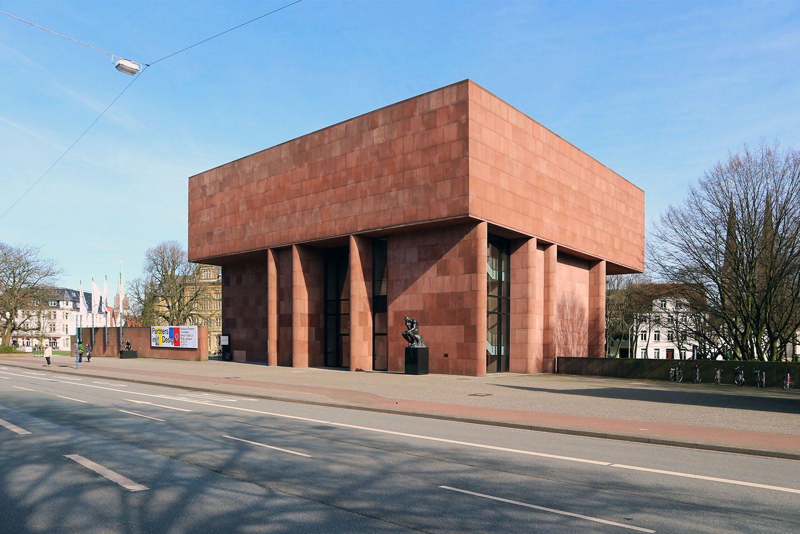 Kunsthalle Bielefeld. Philip Johnsons einziger Museumsbau in Europa wurde 1968 eröffnet.