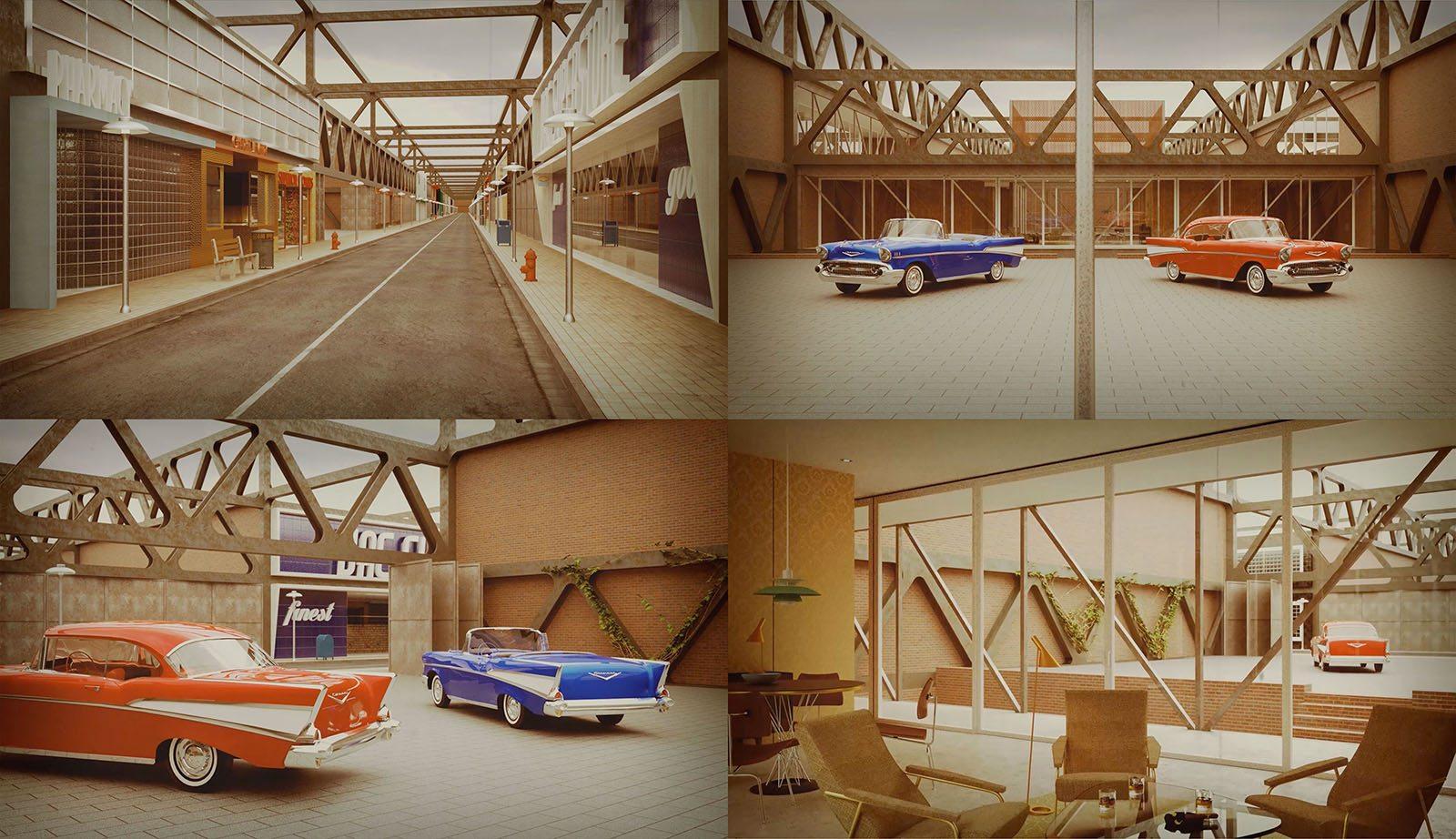 The Chevrolet 1957.  Architekturfilm von Bruno Hansen