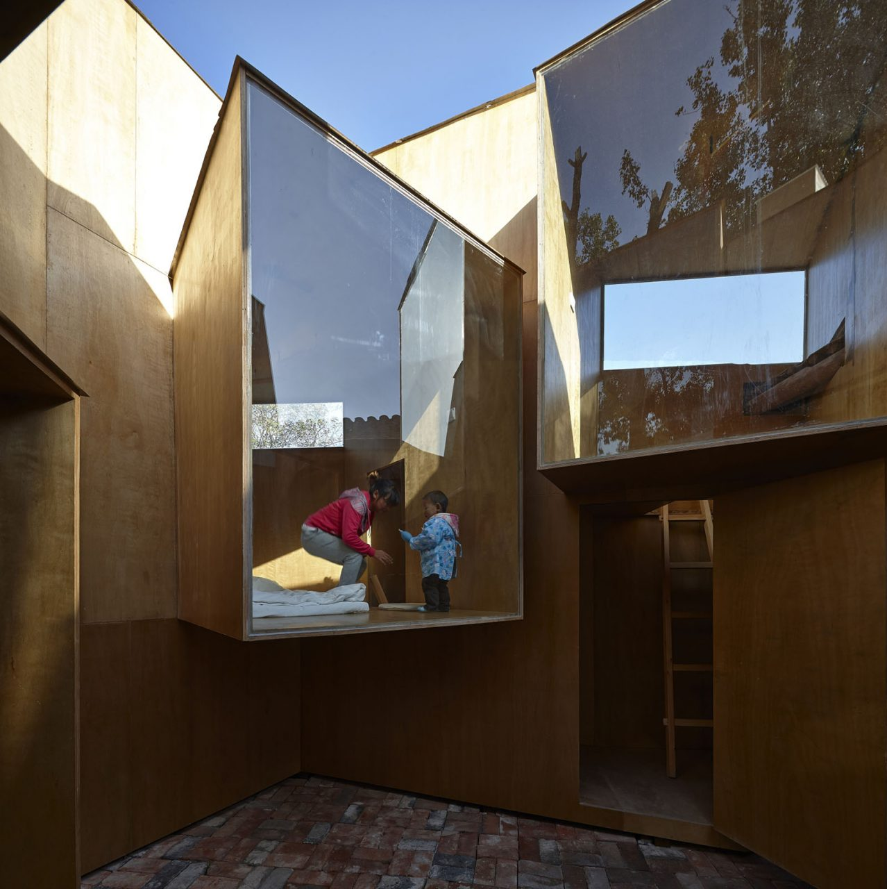Bielefelder Kunstverein. Micro-Hutong in Bejing von ZAO/standardarchitecture (2013).