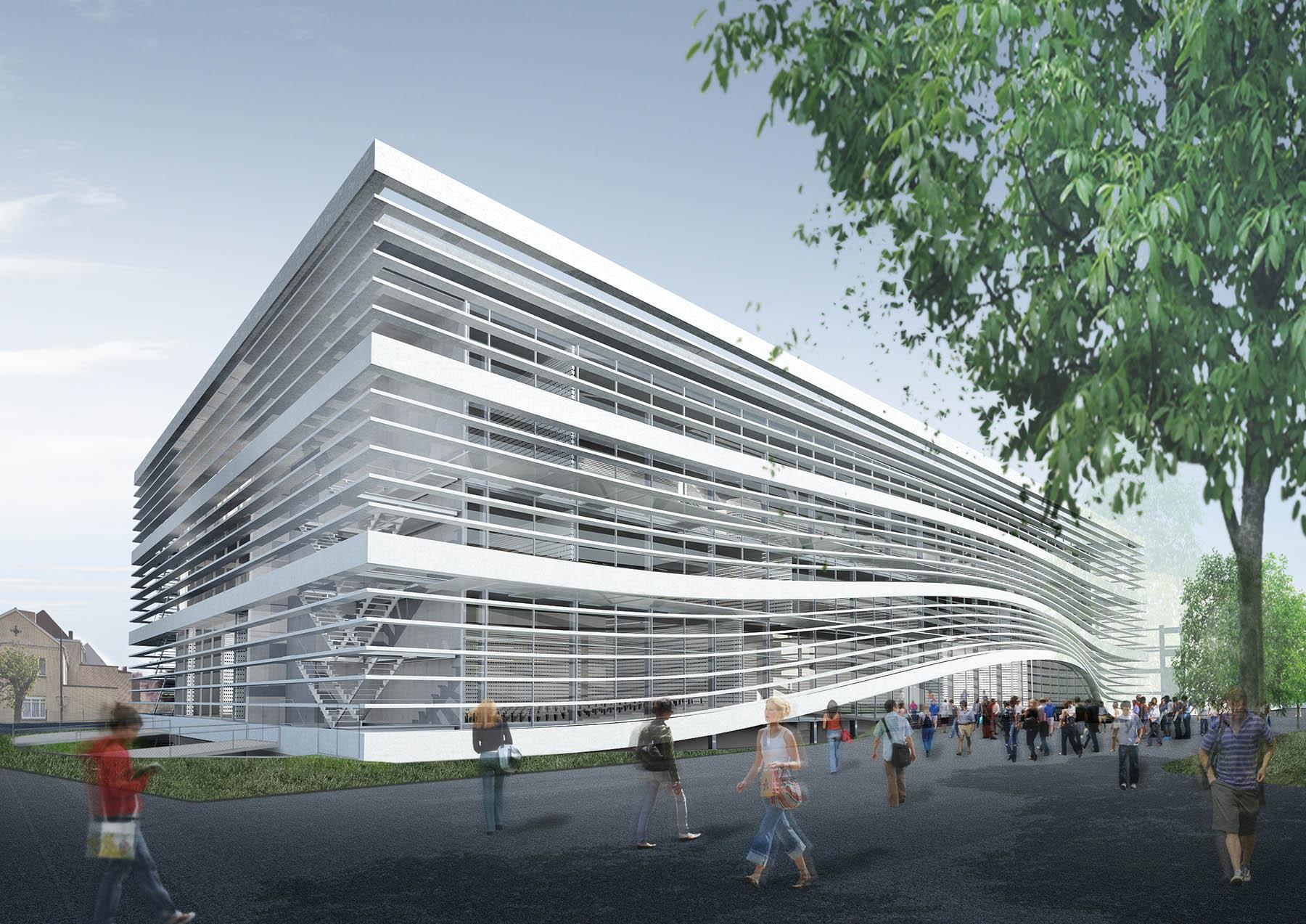 Faculty for the Studies of Social Work. Campus Schoonmeersen, Ghent, Belgium, 2012 – under construction