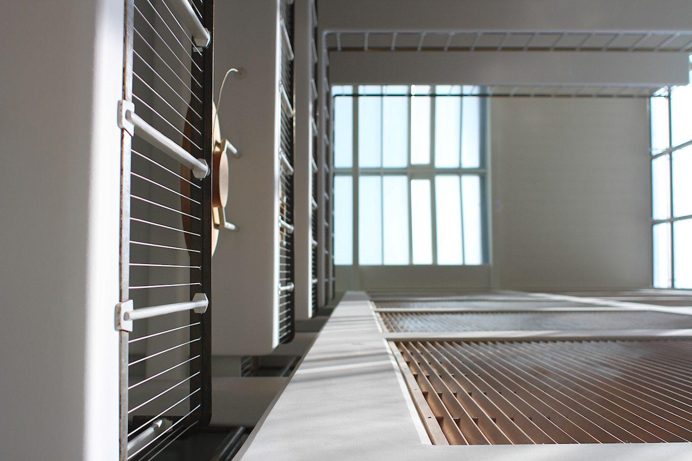 Perspektiven.  Tageslicht in beinah allen Sektionen der Gebäudeteile.