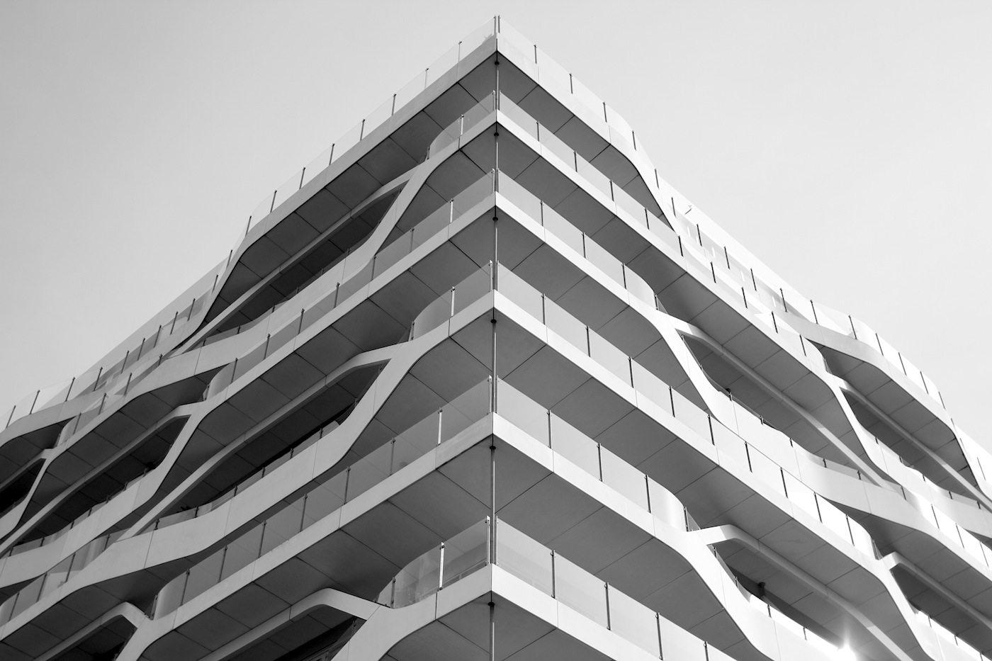 Lighthouse.  Auch der Entwurf von 3XN hat, ähnlich wie der Eisberg, Sozialwohnungen und Eigentumsappartments.