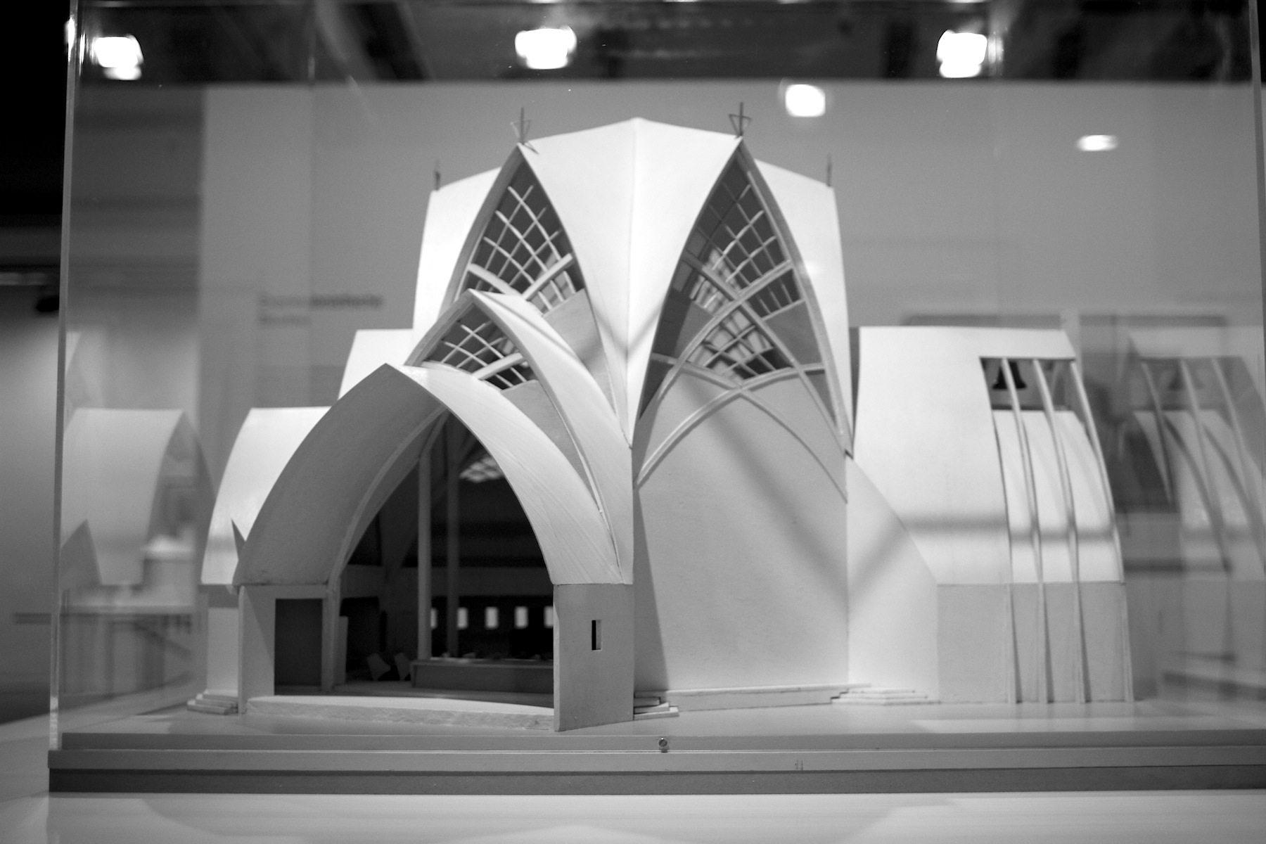 Konstanzer Kirche von Otto Bartning, 1923.  Modell, 1992 von Ute Meinhardt und Heinz Thum. Architekturmuseum der Technischen Universität München