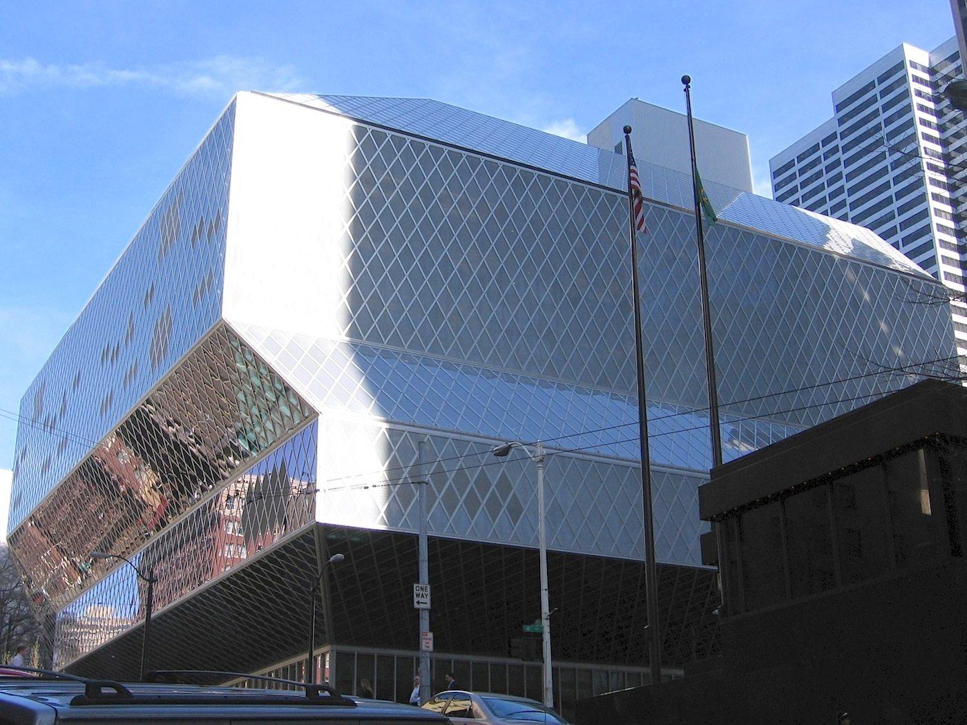 Seattle Central Library. hat elf Geschosse und ist 34.000 Quadratmeter groß ...