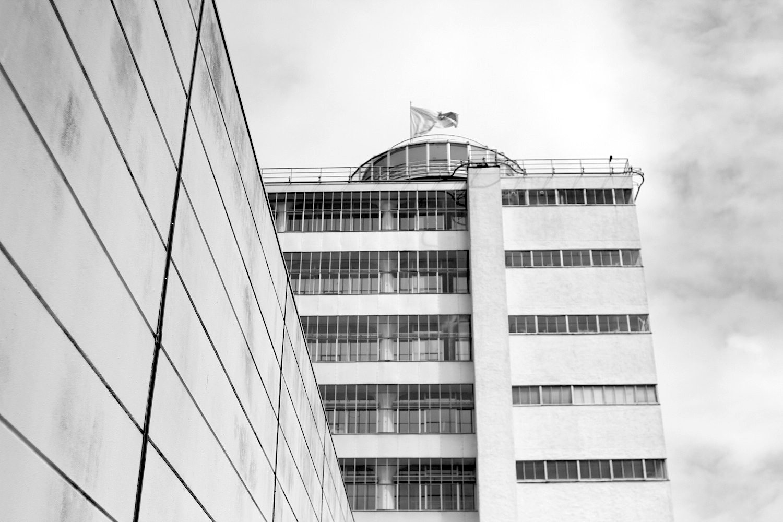 Lichtwerk. Der Bau wurde nach dem amerikanischen Vorbild der Daylight Factory konzipiert.