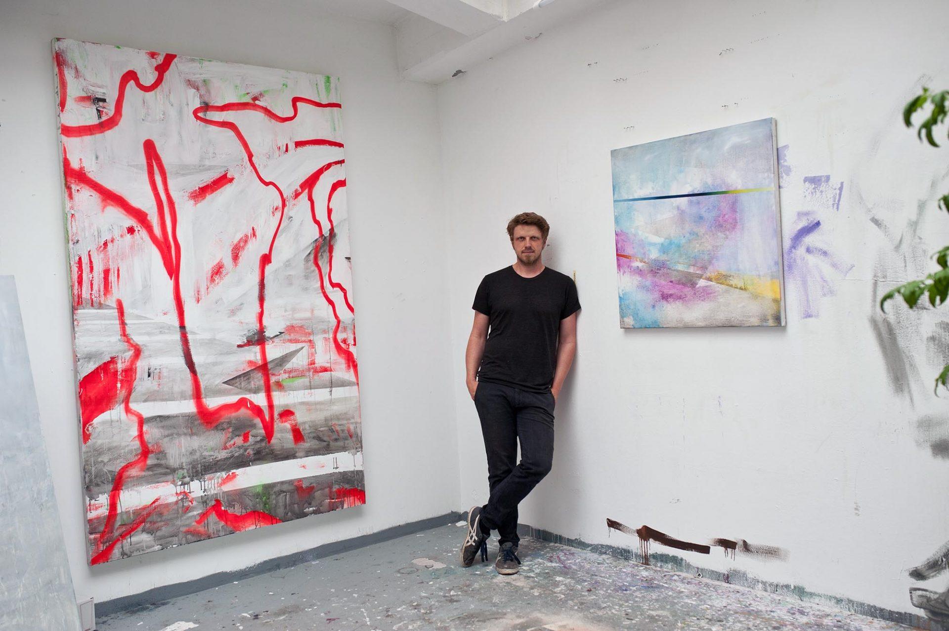 Daniel Wöllenstein.  Artist and first chairman of the association of the KunstWerk since 2016