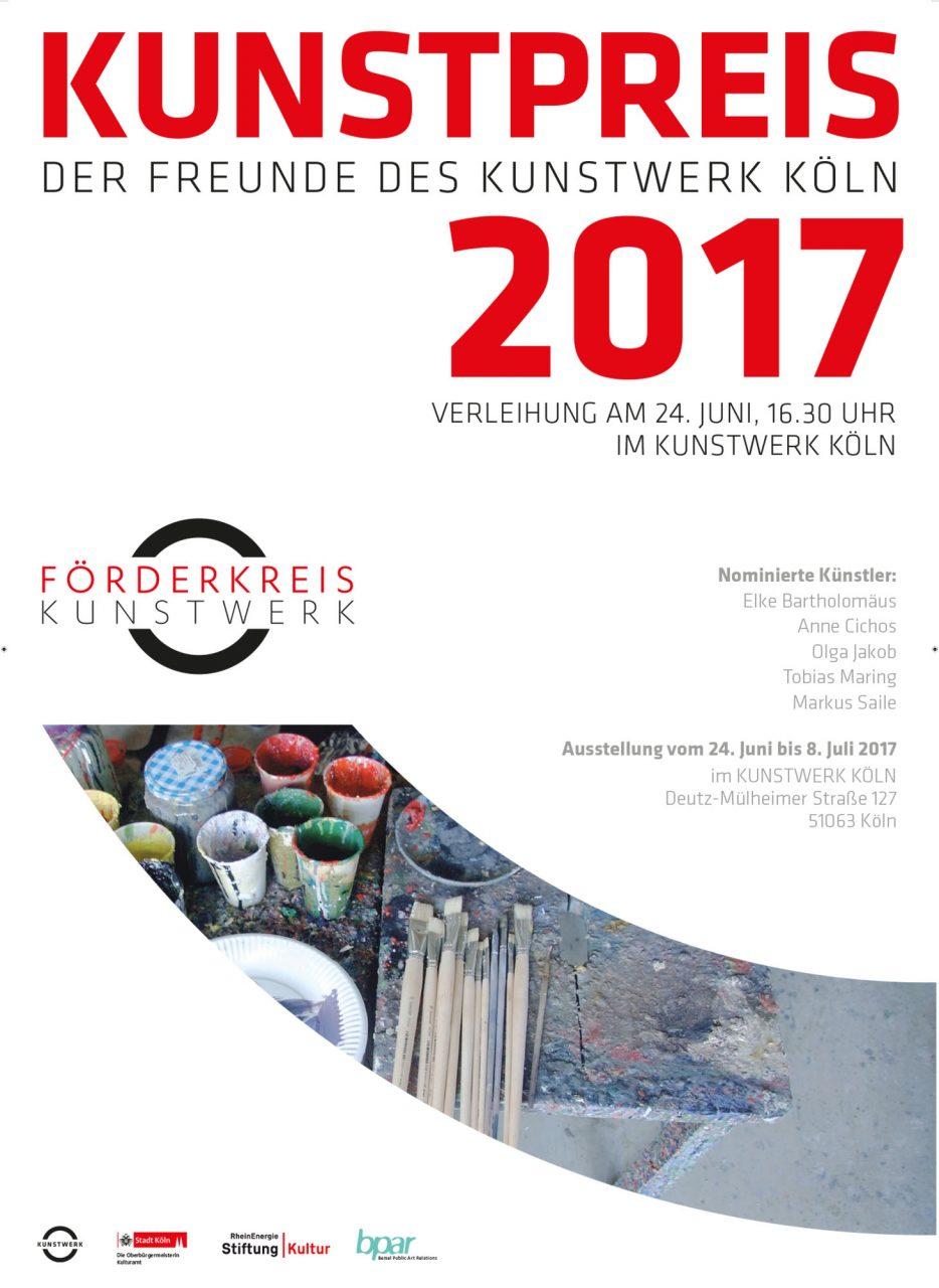 Kunstpreis 2017.  at the KunstWerk Cologne