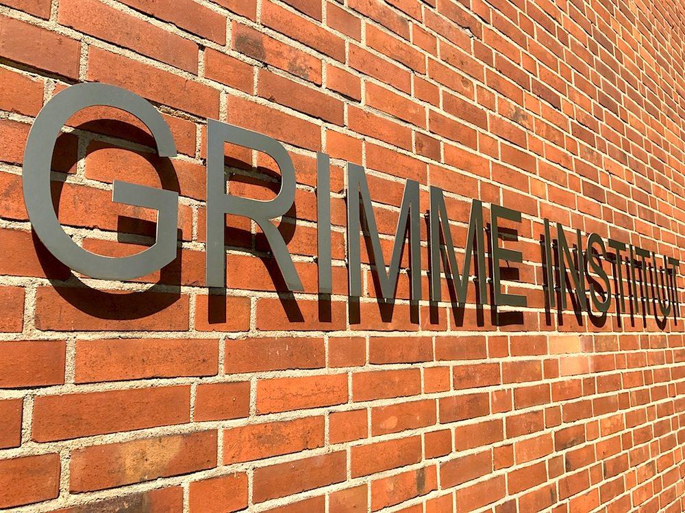 Grimme-Institut. Beispiel für die Nachkriegsmoderne der 1950er-Jahre, entworfen von Günter Marschall und ...
