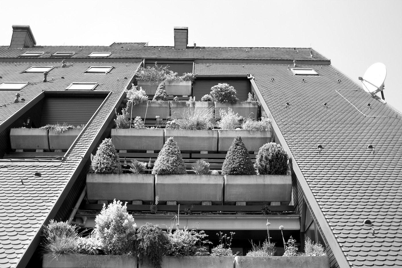Wohnhügel. ... im zweiten Obergeschoss noch zwei Wohnungen und im dritten Obergeschoss nur noch eine Wohnung.