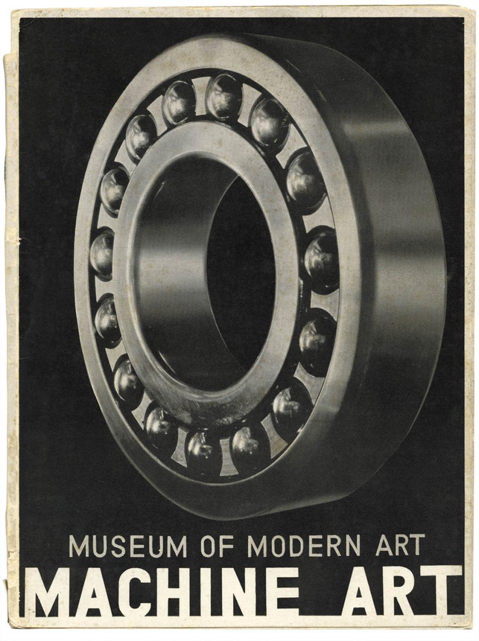 "Josef Albers.  Titelblatt Ausstellungskatalog ""Machine Art"", 1934, Publiziert vom Museum of Modern Art, New York"