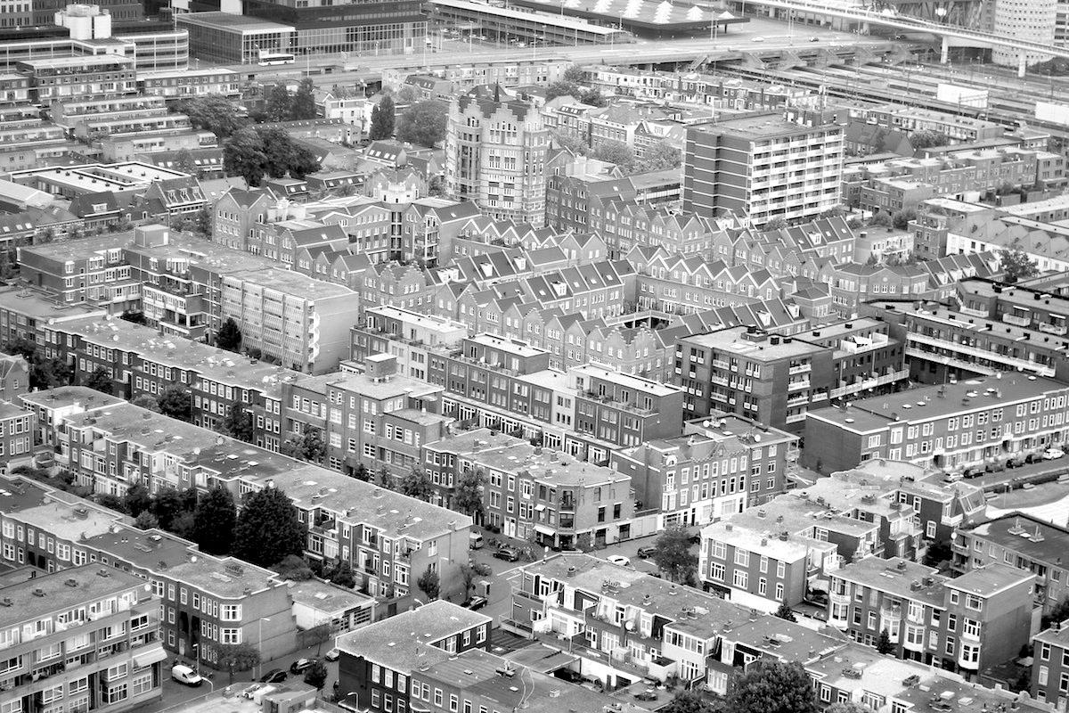 """Den Haag. Blick von der Aussichtsplattform des """"Het Strijkijzer"""""""
