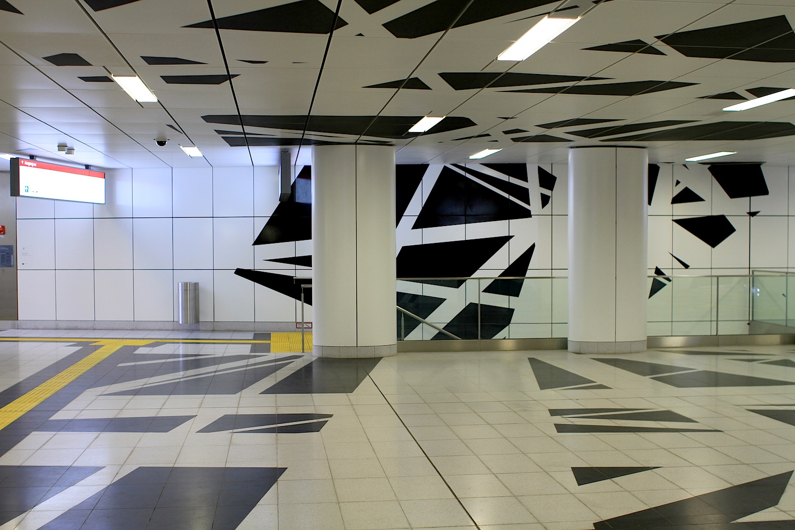 Station Pempelforter Straße. ... und in ein 3-D-Modell übertragen.