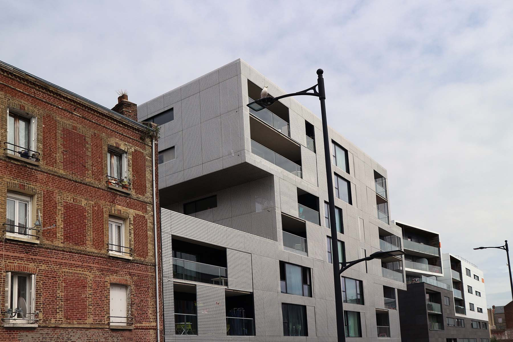Parcours Les Bassins. Historische und zeitgenössische Bauten in den Docks von Le Havre.