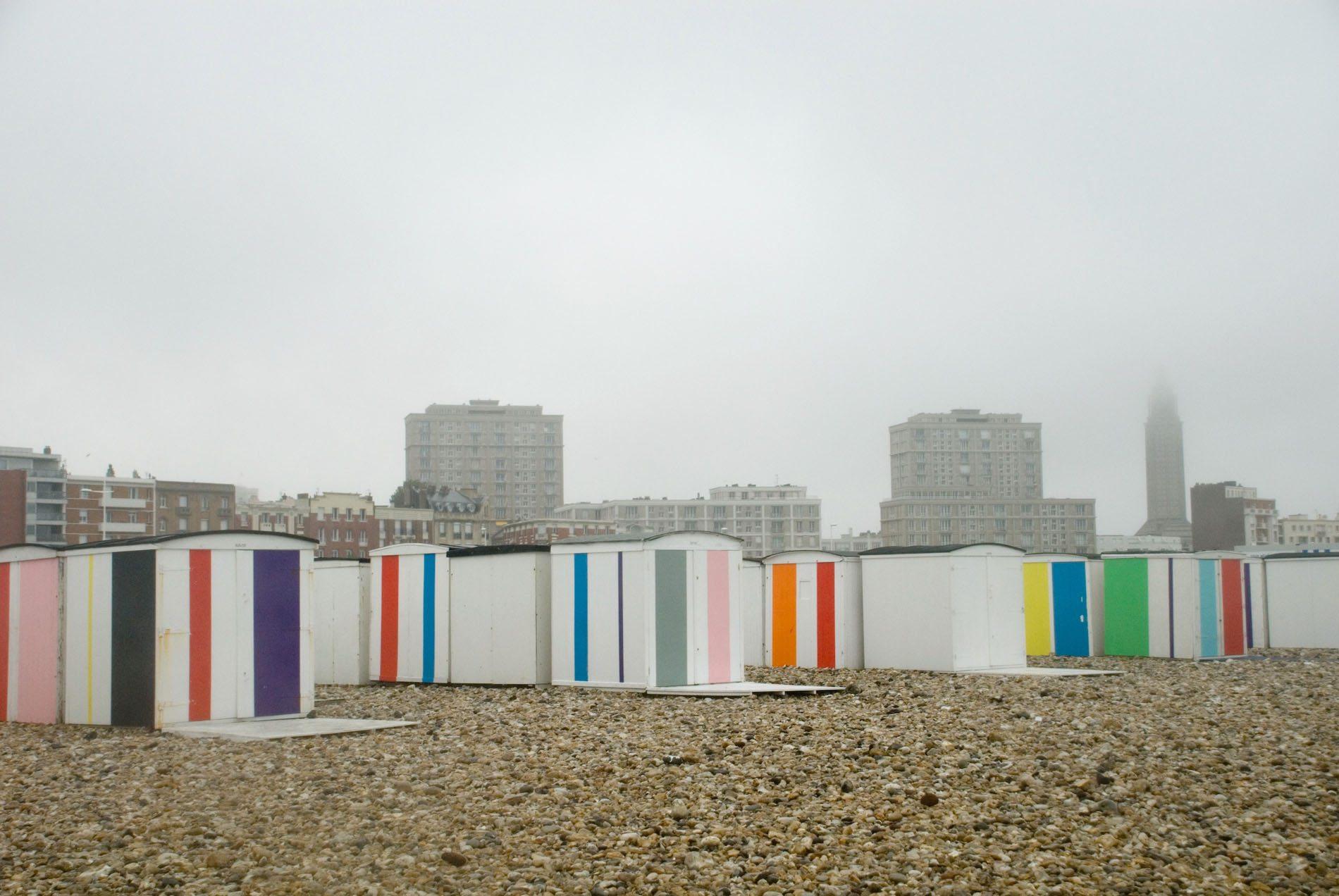 """Parcours La Ville Perret.  ... und Karel Martens """"Colors on the Beach""""."""