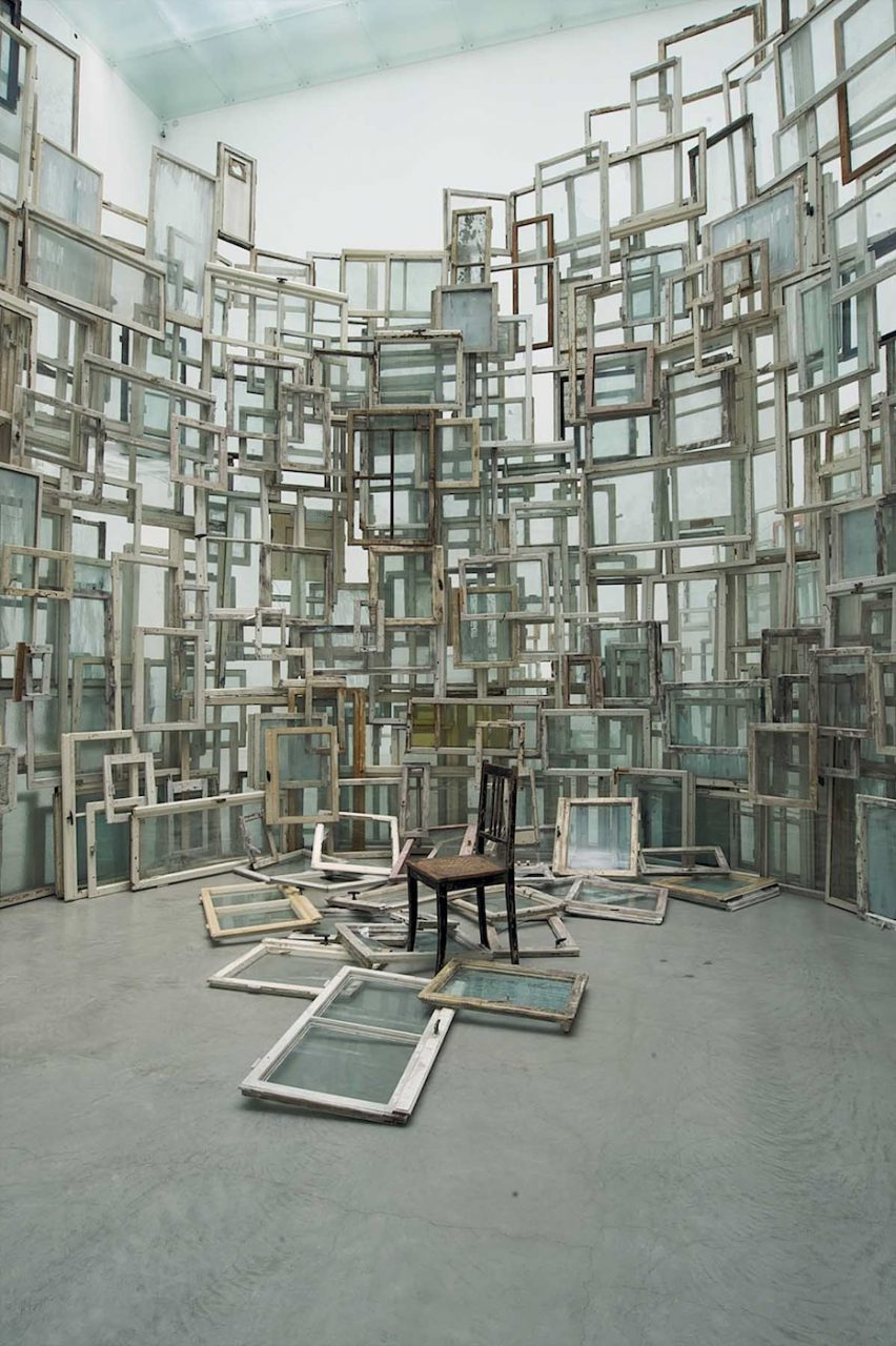 A Room of Memory, 2009. 21st Century Museum of Contemporary Art, Kanazawa, Japan. Installation, old wooden windows, chair