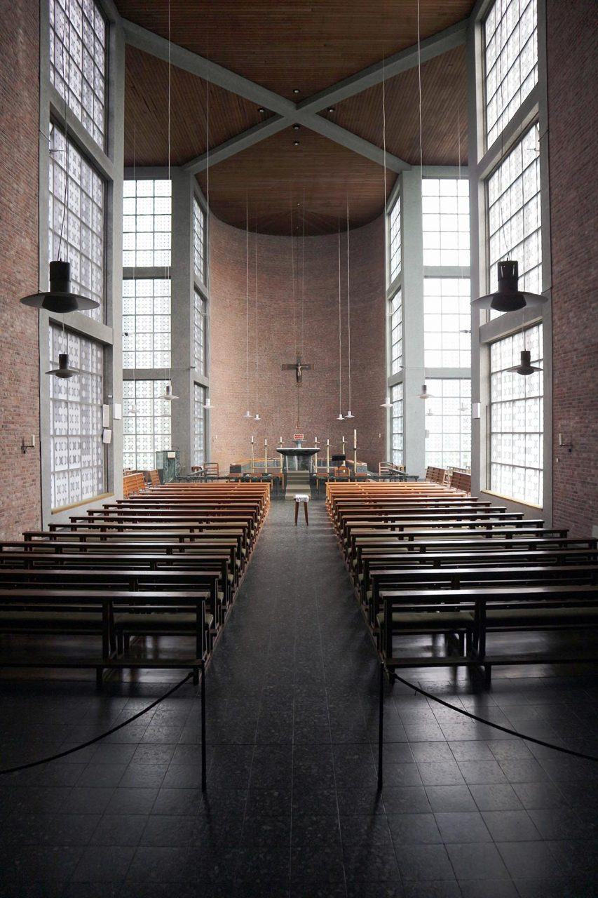 St. Andrew's Church.  In 1994, the original glass blocks were replaced with glass art by Jochen Poensgen ...