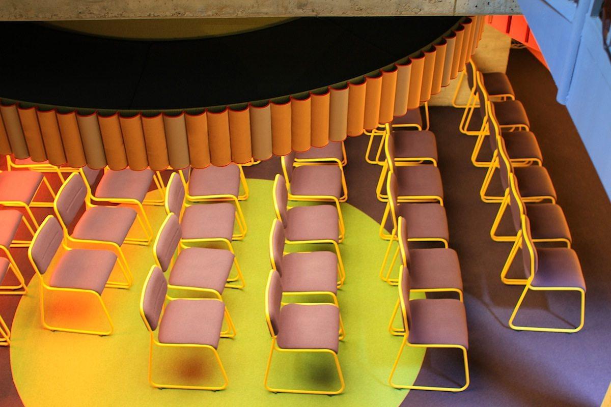 """Ein Set für das Schmela Haus. Bar und Saal.. In 2013, the Dusseldorf sculptor Andreas Schmitten installed his work """"Ein Set für das Schmela Haus. Bar und Saal"""" (""""A Set for Schmela Haus. Bar and Hall"""")."""