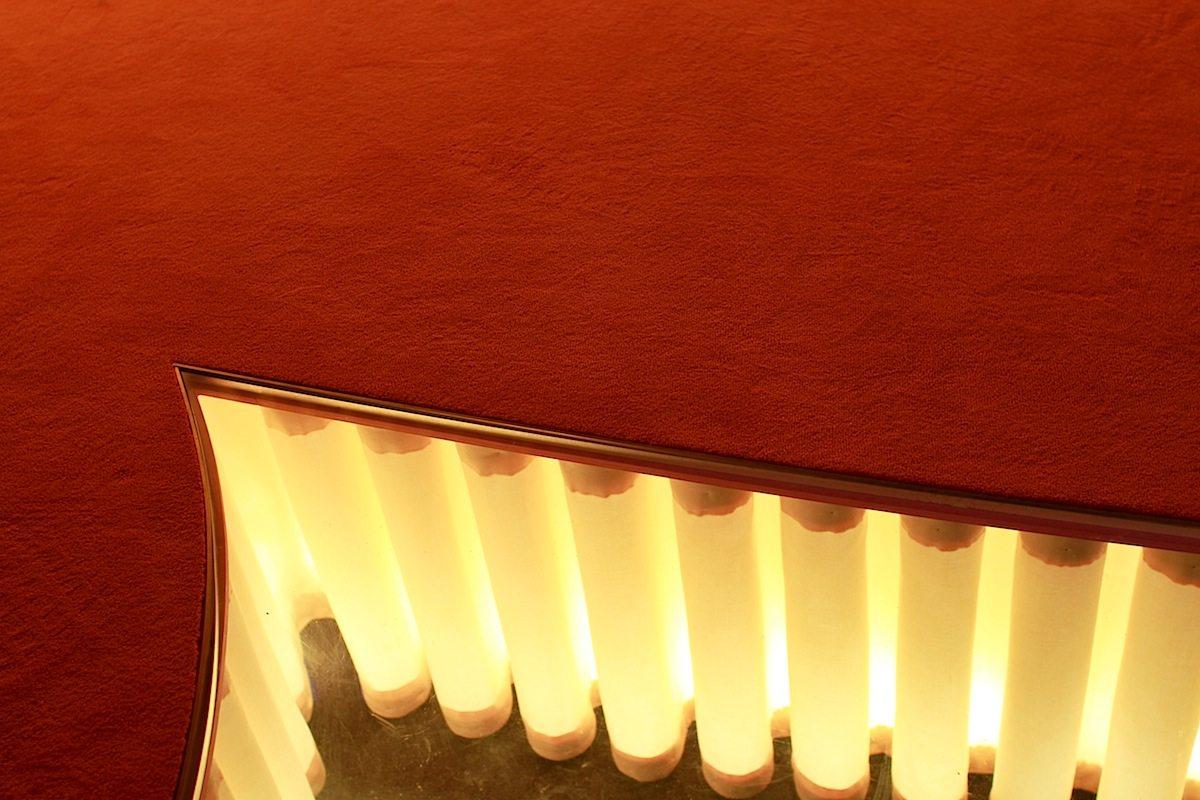 Ein Set für das Schmela Haus. Bar und Saal.. A stage for dialogue, debate, and discussion.