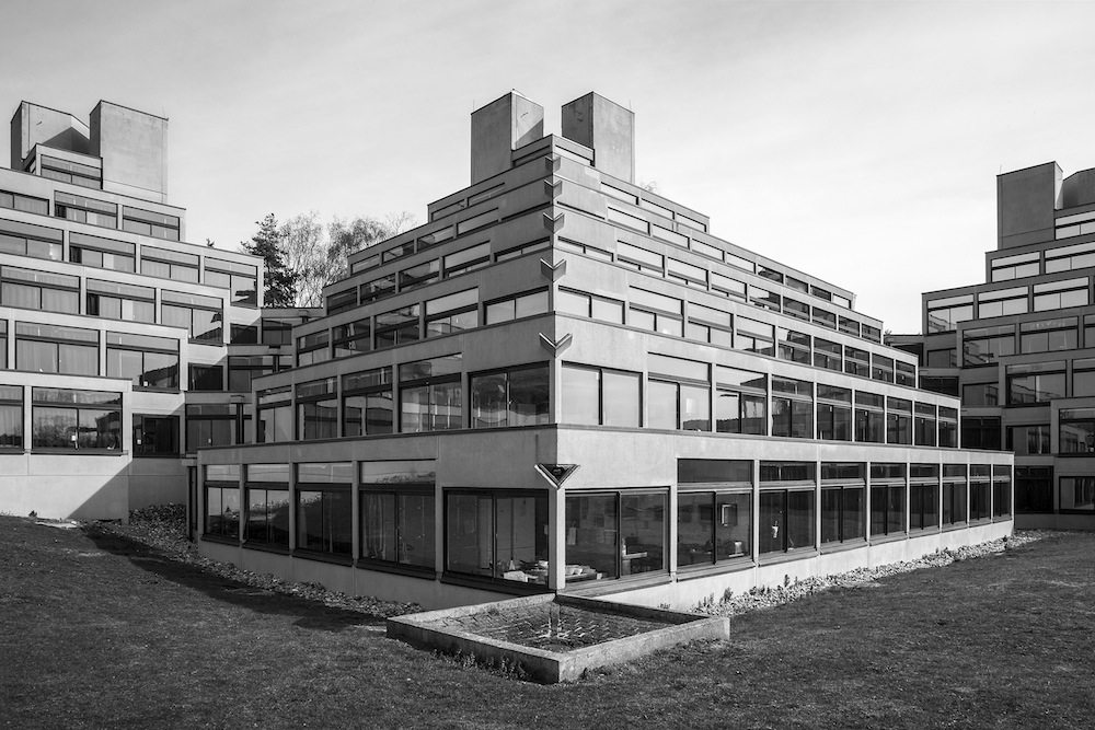 University of Anglia Norwich.  1962-1968, Architekt: Denys Lasdun