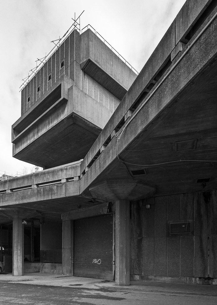 Hayward Gallery, South Bank, London.  1968, Architekt: Norman Engleback, Dennis Crompton, Warren Chalk and Ron Herron for the LCC