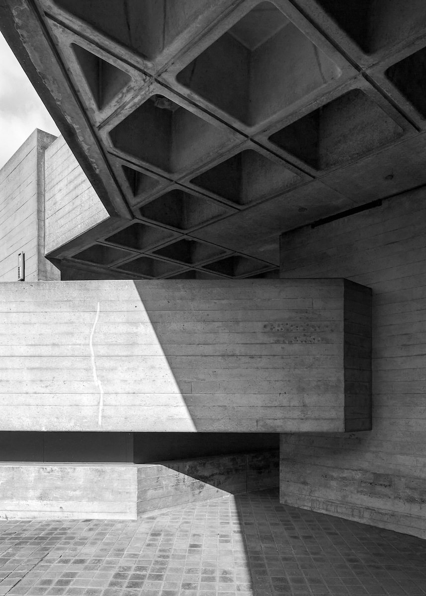 National Theatre, South Bank, London. 1967-76, Architekt: Denys Lasdun