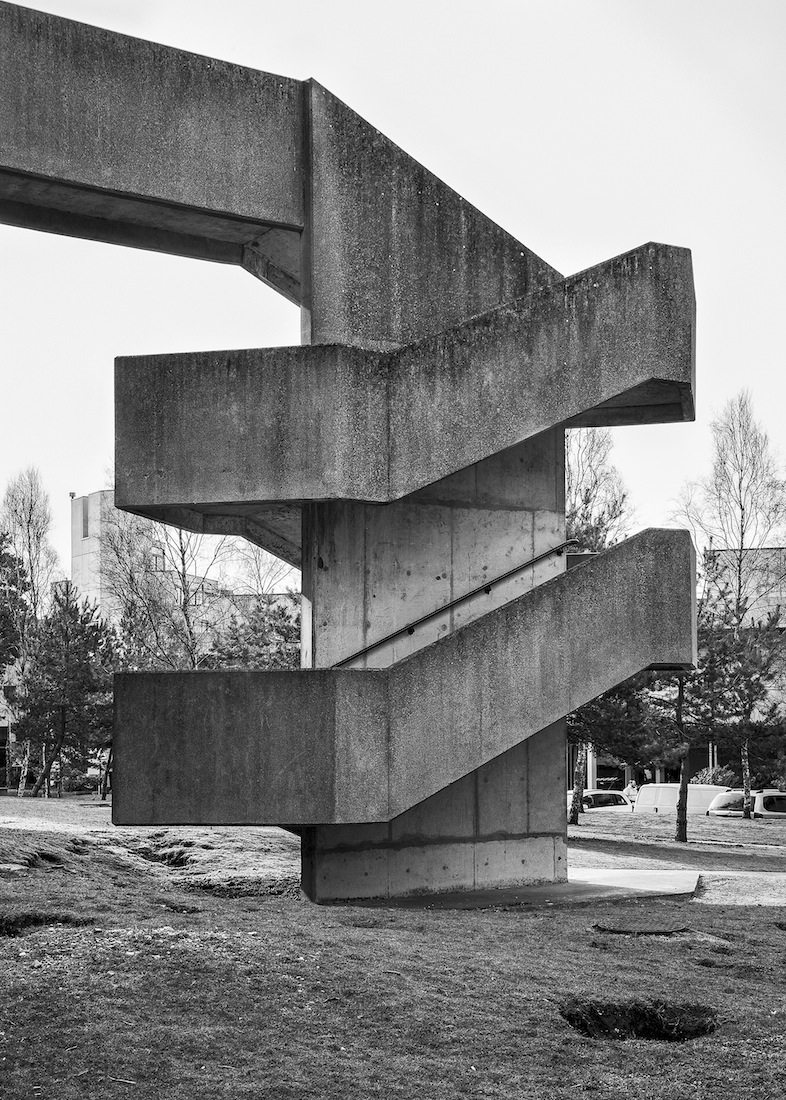 University of East Anglia, Library, Norwich.  1962–68, Architekt: Denys Lasdun