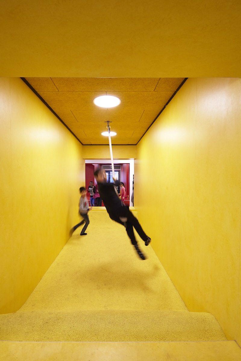 Søndervangskolen, Aarhus. Zusammen mit dem Architekturbüro SMAK begann die Schule die Modernisierung.