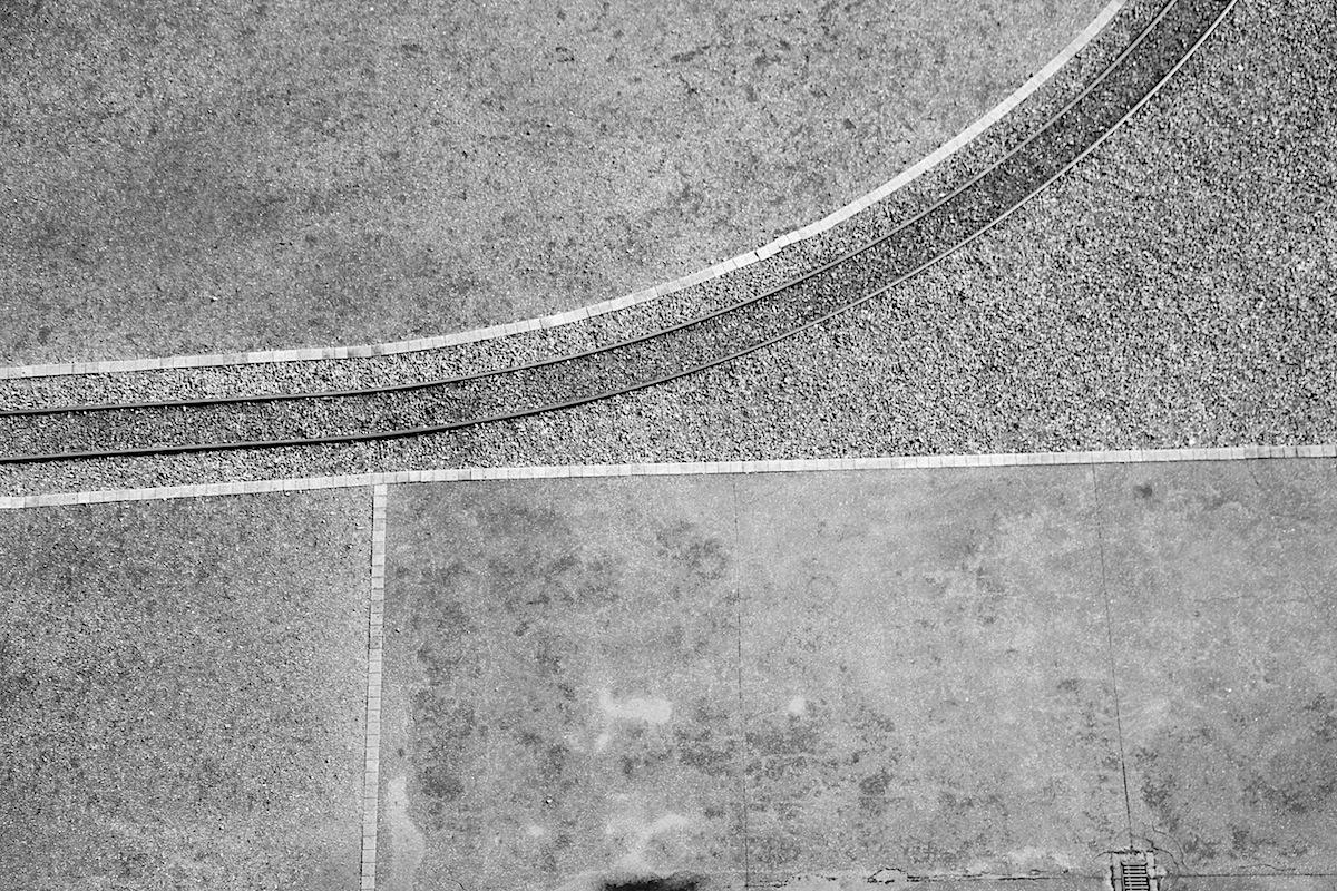Bodenzeichnung. von der obersten Plattform des Fördergerüstes gesehen.