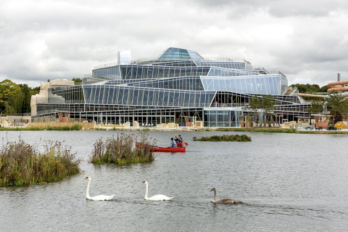 Aqualagon Water Park.  Marne-la-Vallée, near Paris, France. Completion: 2017.