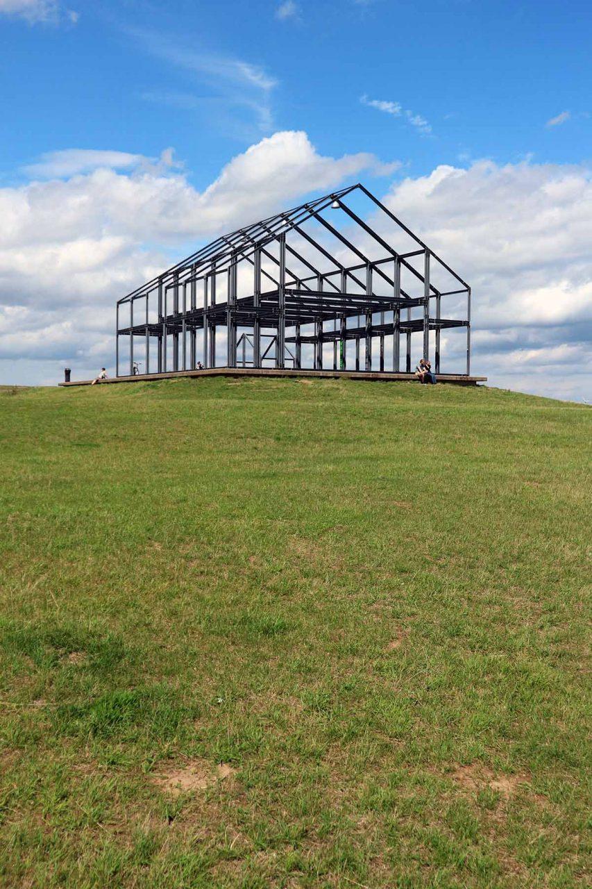 Halde Norddeutschland. A steel framework