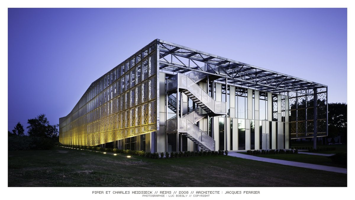 Headquarters of Champagne Piper and Charles Heidsieck.  in Reims, France. Completed: 2008.