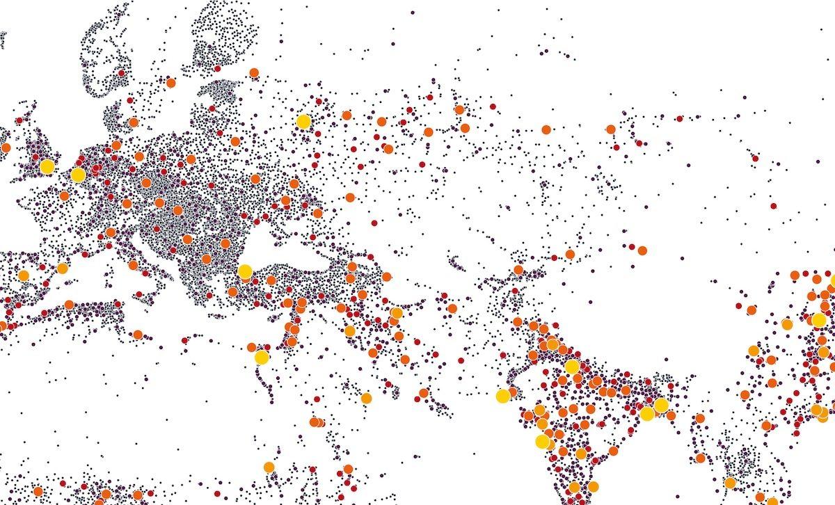 """Planetary Urbanism + Learning City Gelsenkirchen: die Ausstellung.  Die Ausstellung basiert auf den Ergebnissen des Wettbewerbs """"Planetary Urbanism – Kritik der Gegenwart"""" der Architekturzeitschrift ARCH+ und thematisiert die globalen Herausforderungen der Verstädterung."""