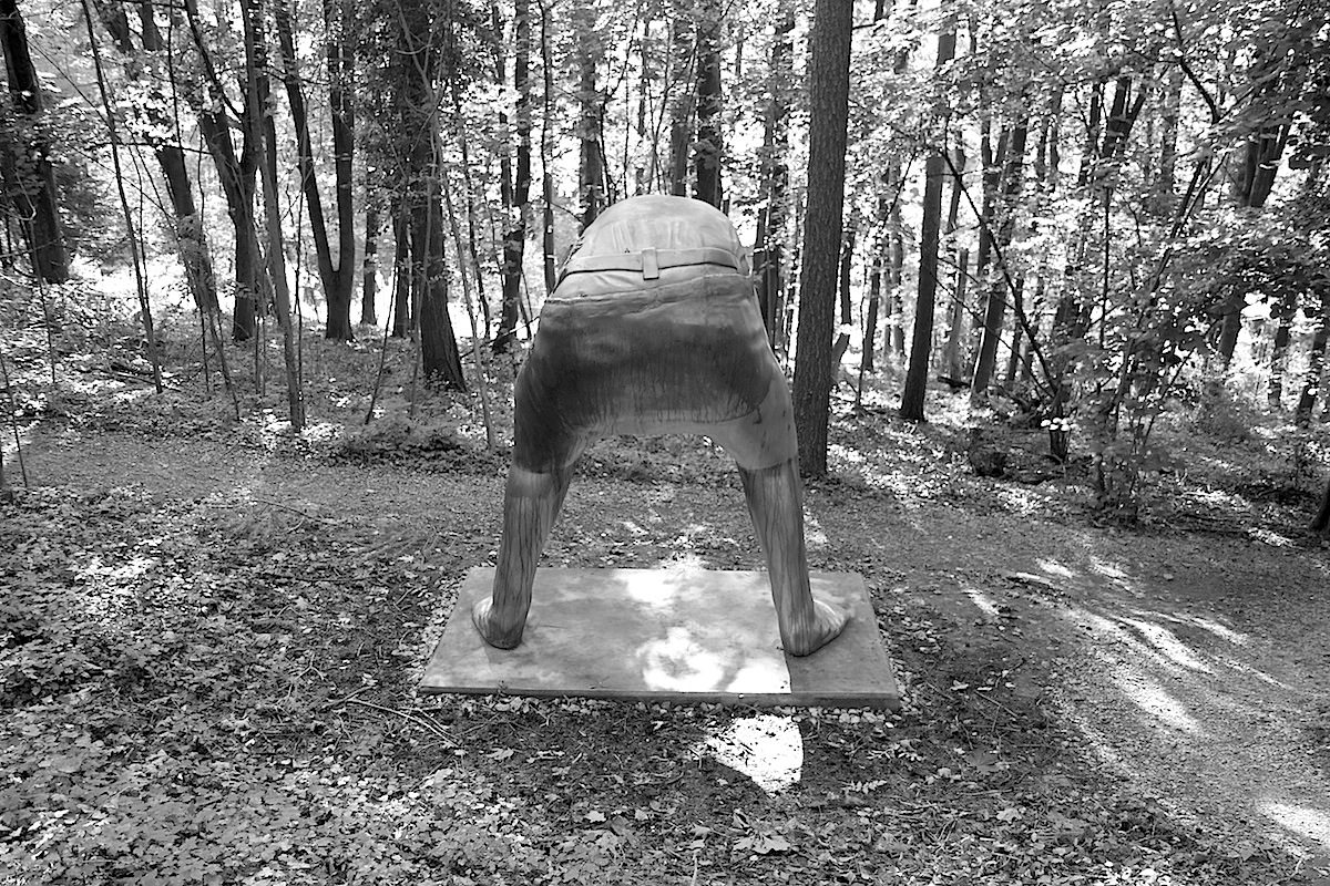 Skulpturenpark Waldfrieden. Big Psycho, Erwin Wurm