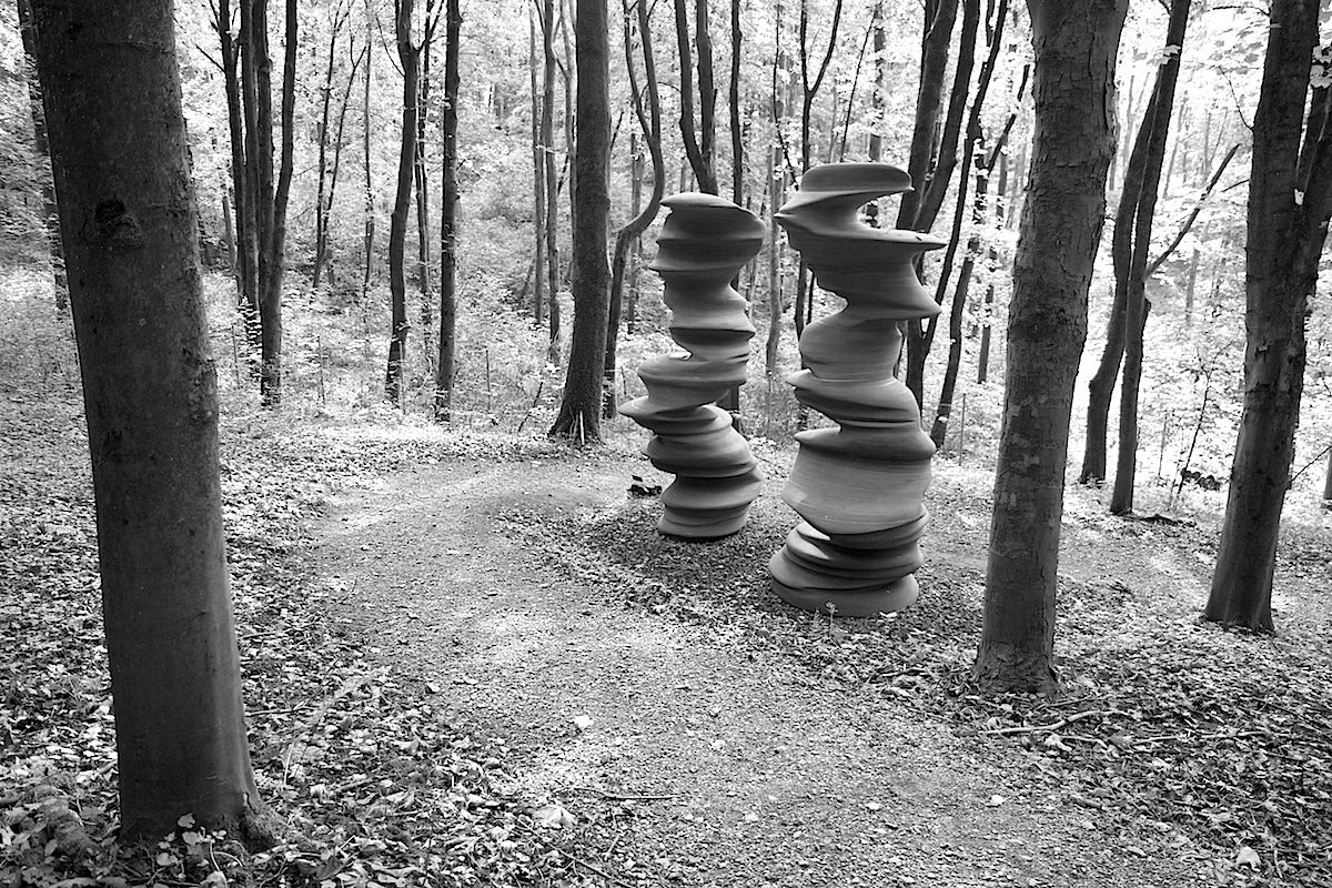 Skulpturenpark Waldfrieden.  Here today, gone tomorrow, Tony Cragg