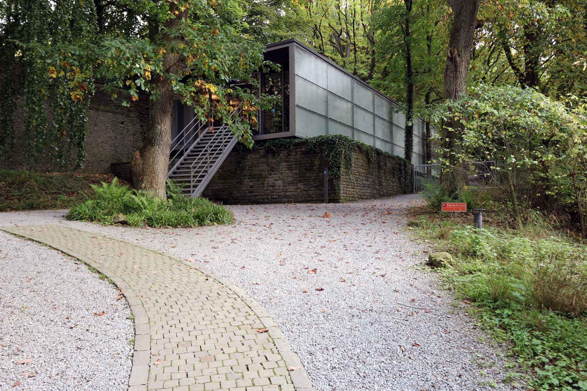 Skultpturenpark Waldfrieden. Eingang