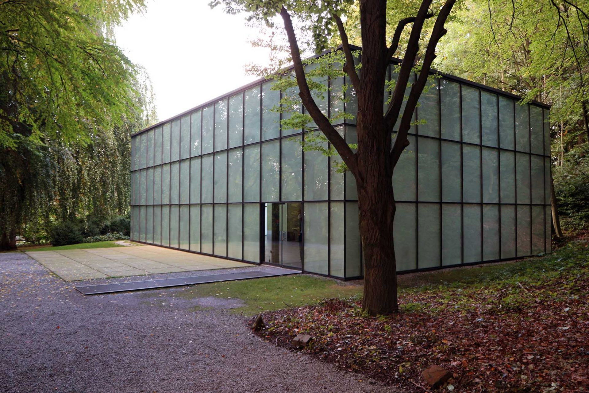 Skultpturenpark Waldfrieden. Ausstellungshalle