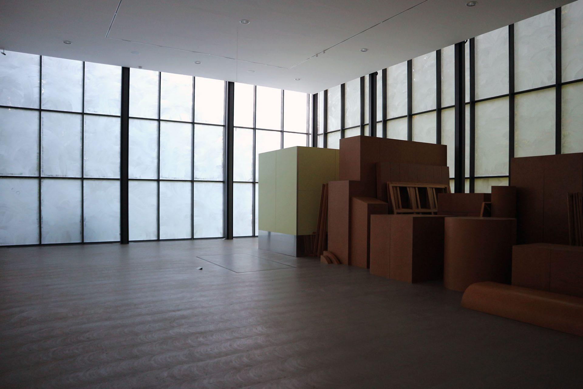 Skultpturenpark Waldfrieden. Ausstellungshalle mit Imi Knoebel