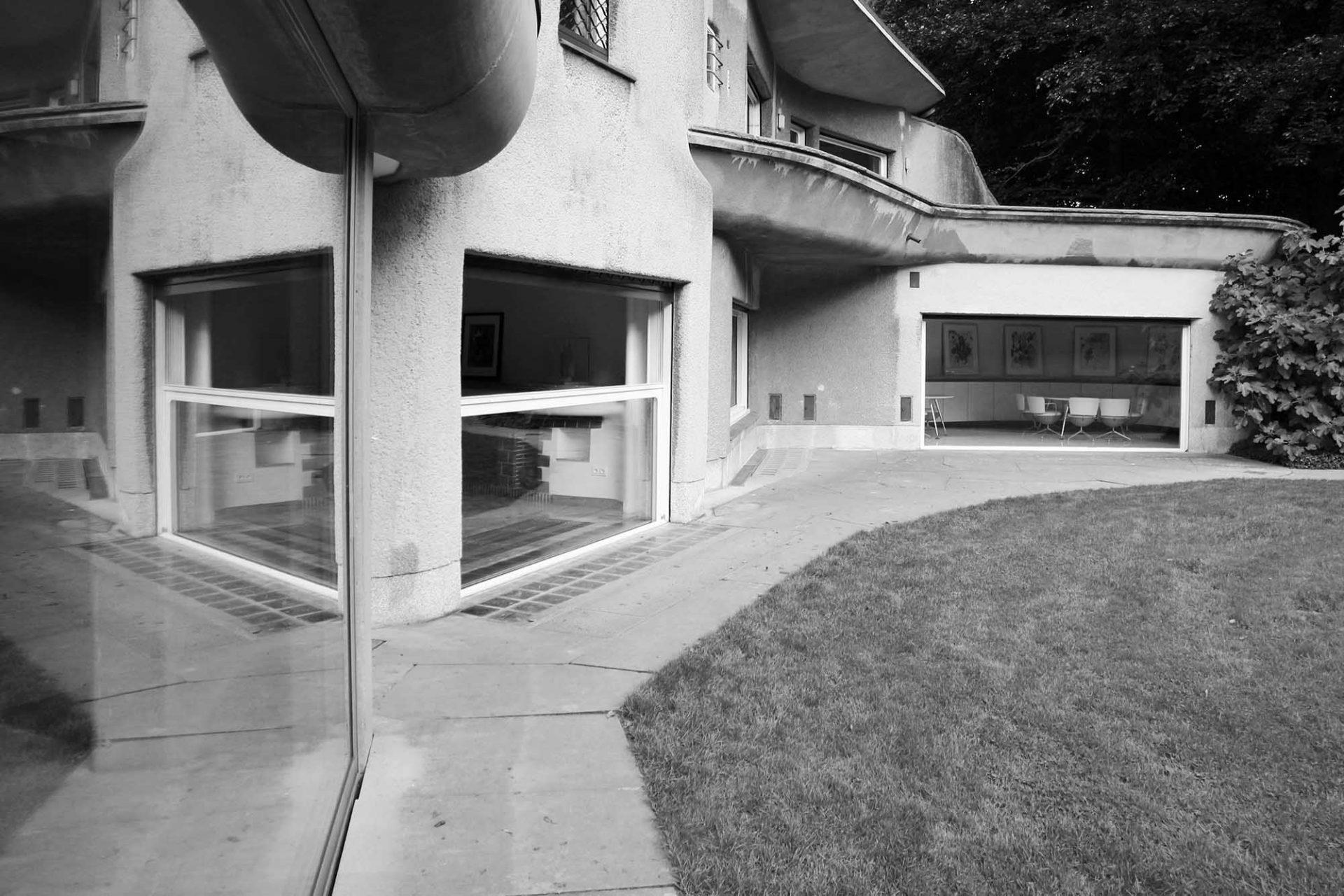 Skultpturenpark Waldfrieden. Villa Waldfrieden, Architekt Franz Krause, Fertigstellung: 1950