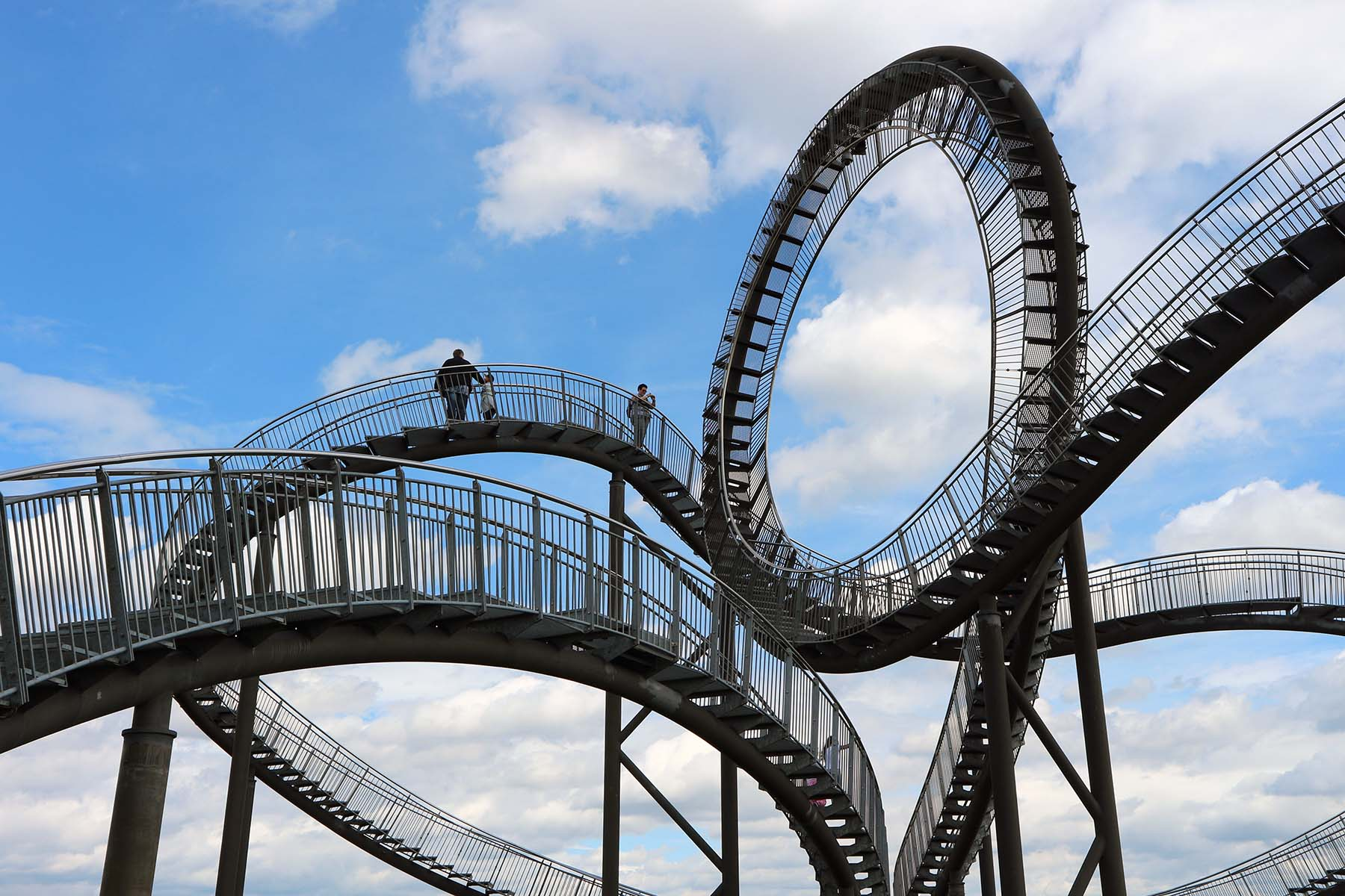 Tiger and Turtle – Magic Mountain.  ... the 21 metre high outdoor sculpture of galvanised steel up until it starts looping.